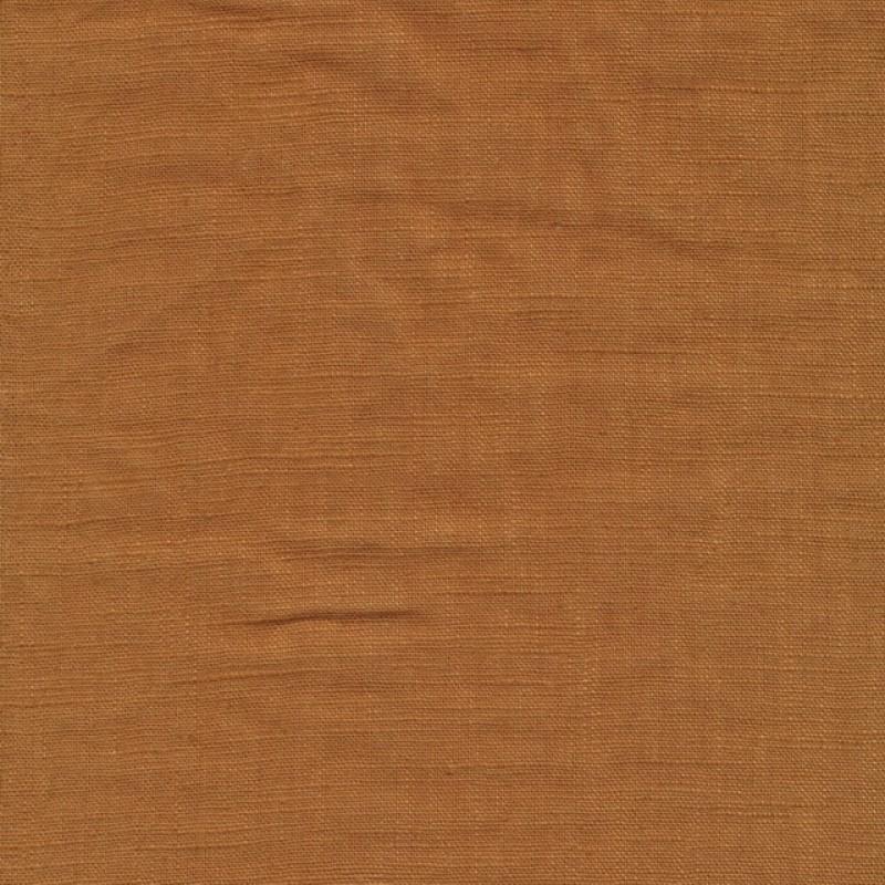 100% vasket ramie-hør i okkerbrun-314