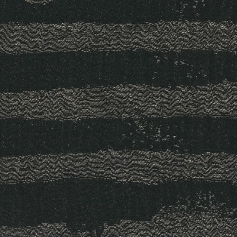 100% let hør med uens striber i grå og sort-39