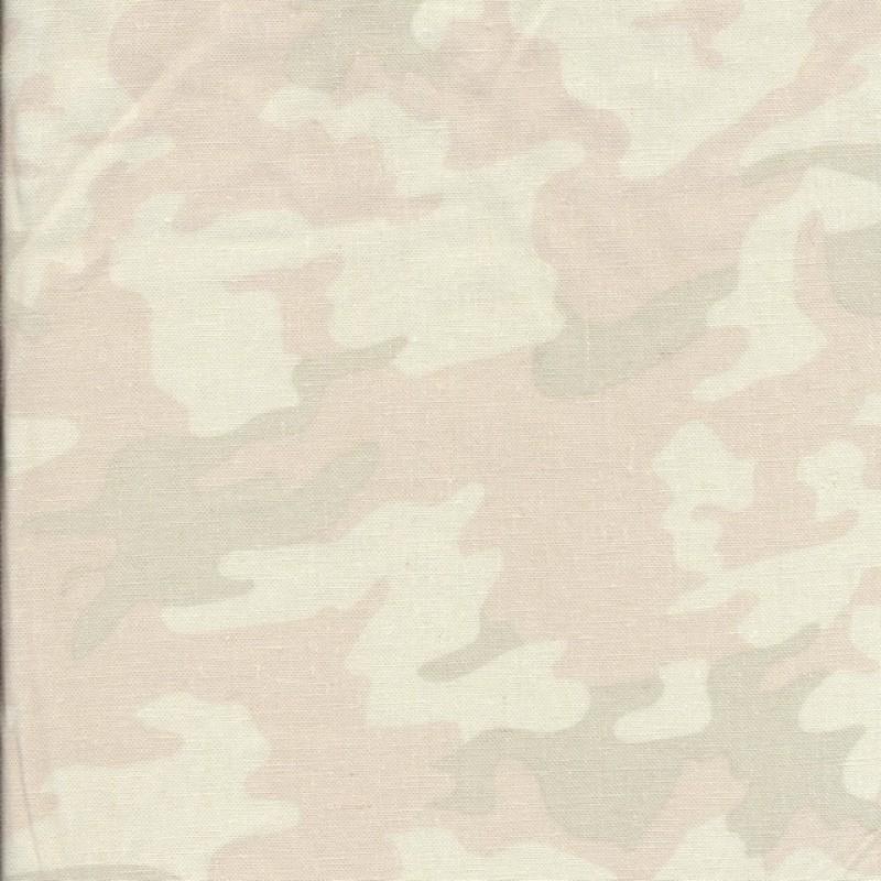 Hør-viskose camouflage i pasteller-314
