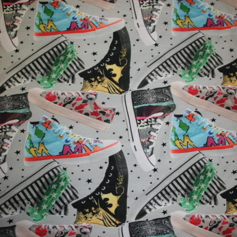 Isoli m/digitalt tryk sko/sneakers