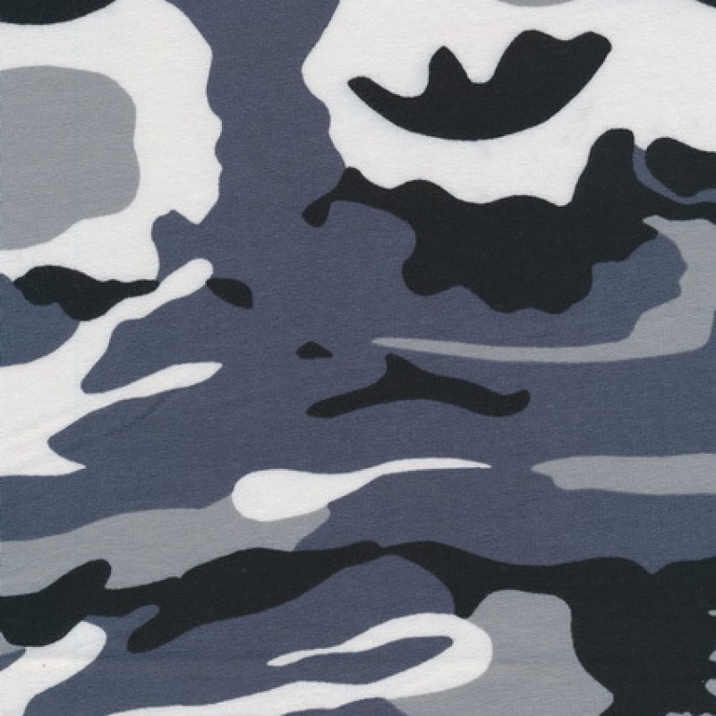 Isoli m/army-print grå/sort/hvid