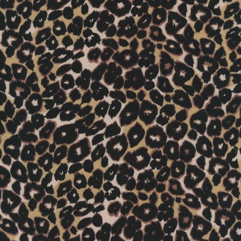 Bomuld/lycra økotex m/dyreprint, leopard