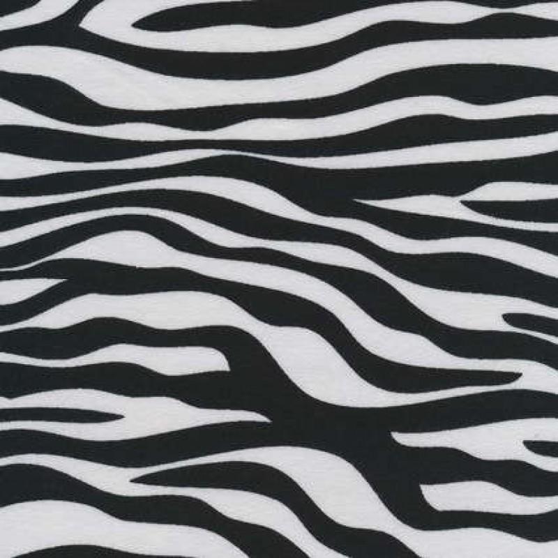 Bomuld/lycra økotex m/dyreprint, zebra sort/hvid-31
