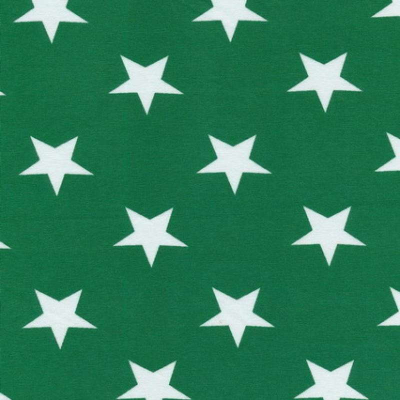 Bomuld/lycra økotex m/stjerner grøn/hvid-31