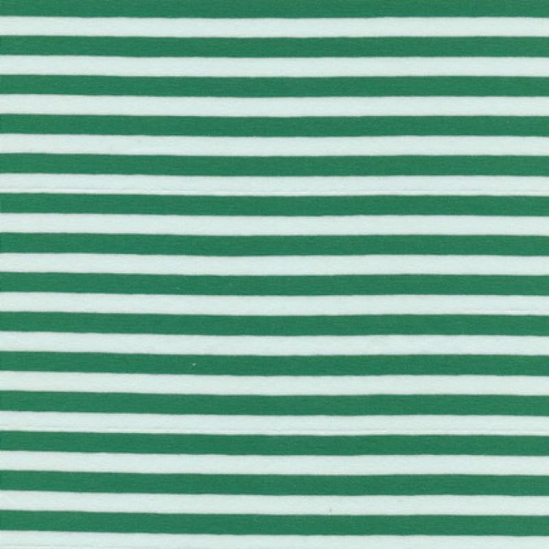 Bomuld/lycra økotex stribet grøn/hvid-35