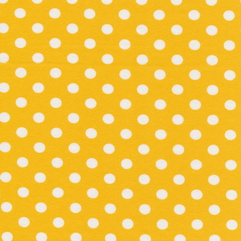 Bomuld/lycra økotex m/prikker, gul/hvid