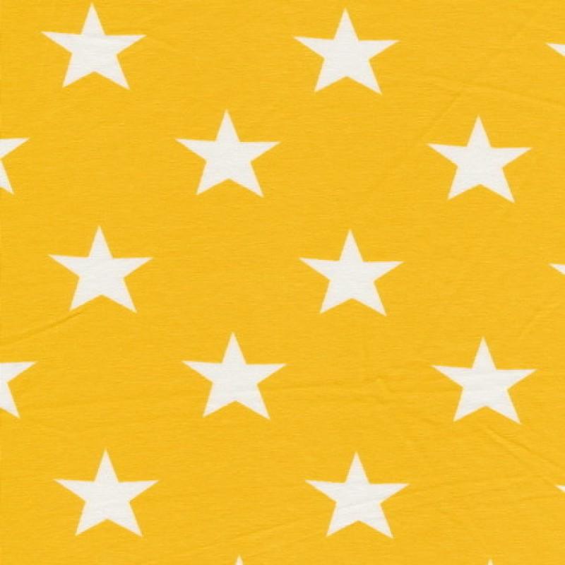 Bomuld/lycra økotex m/stjerner gul/hvid-35