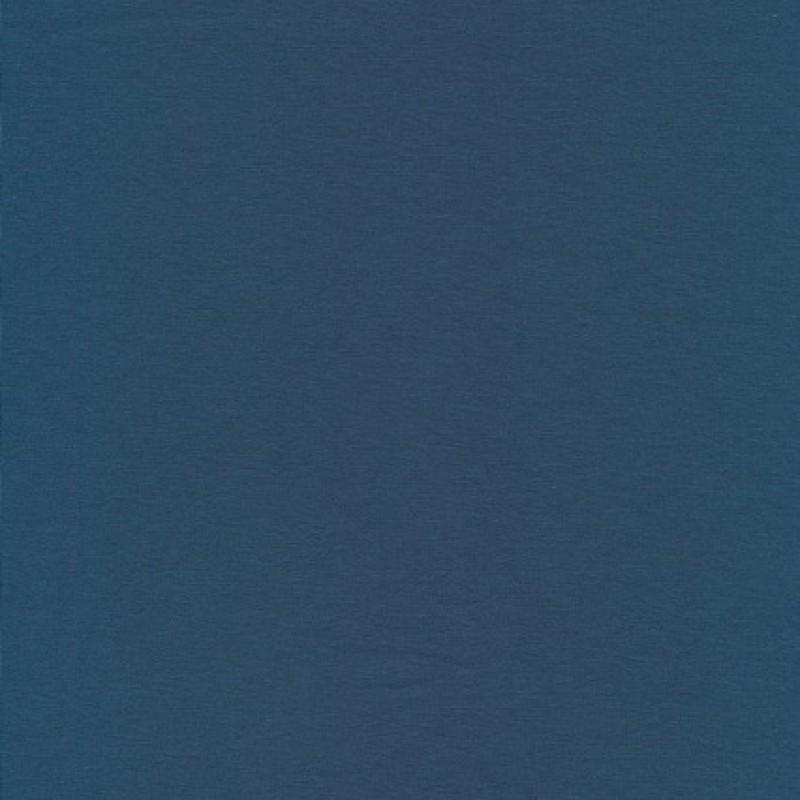 Jersey økotex bomuld/lycra i støvet petrol-blå