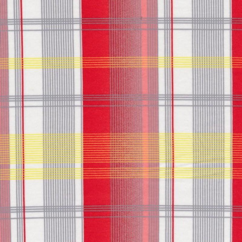 Rest Merceriseret bomulds-jersey, m/striber/tern hvid/rød, 100 cm.-33
