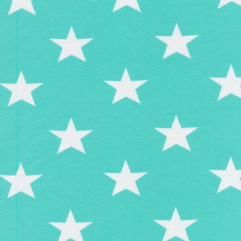Bomuld/lycra økotex m/stjerner mint/hvid-33