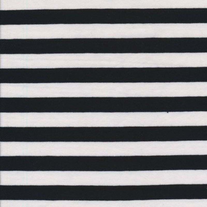 Bomuld/lycra økotex stribet sort/hvid 15 mm.-33