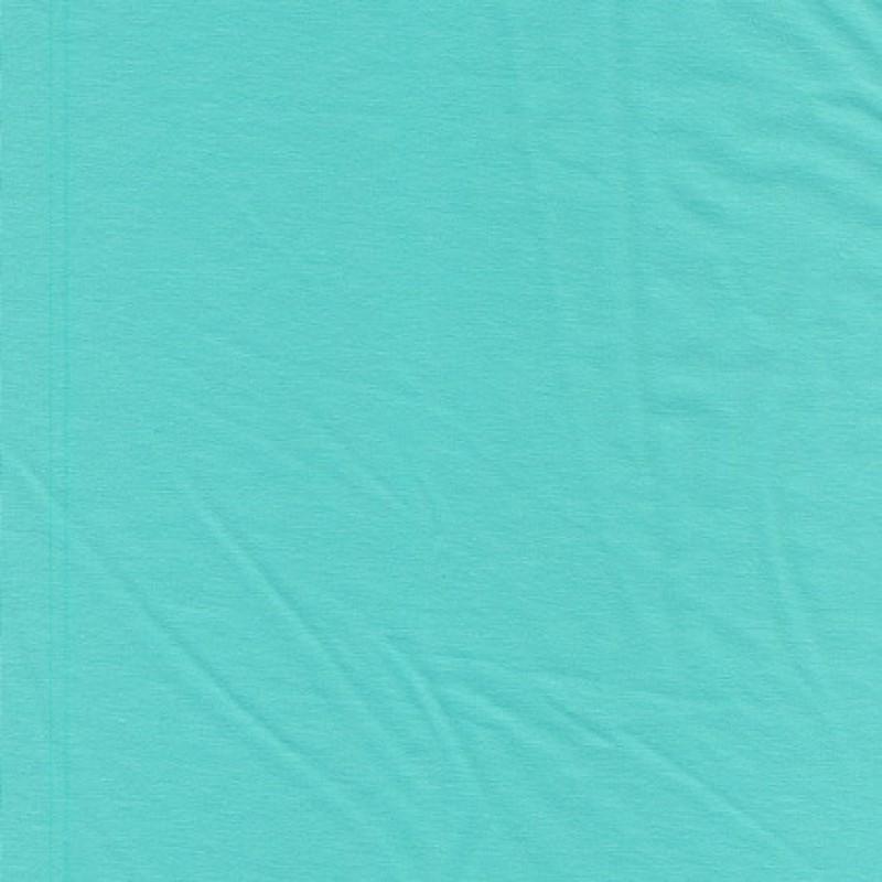 Jersey økotex bomuld/lycra, aqua