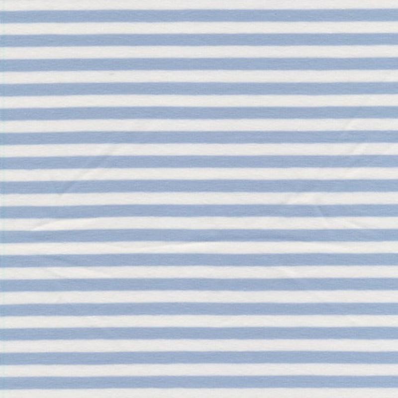 Rest Bomuld/lycra økotex stribet babylyseblå/hvid, 20 cm.