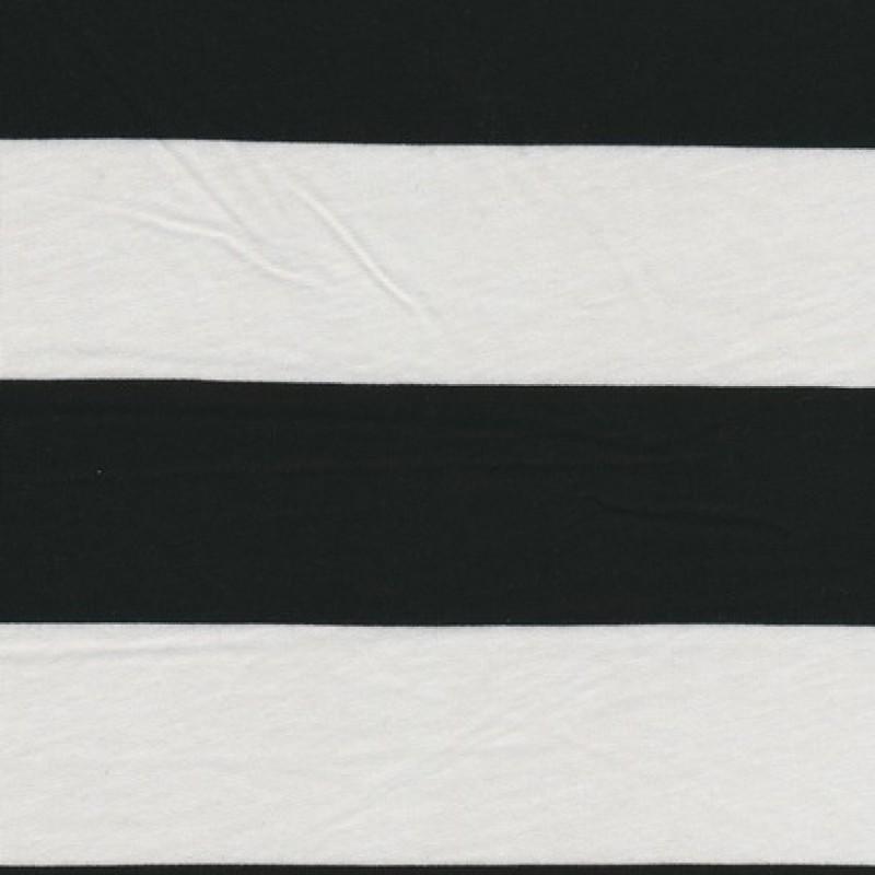 Rest Let jersey m/brede striber hvid/sort, 100 cm.