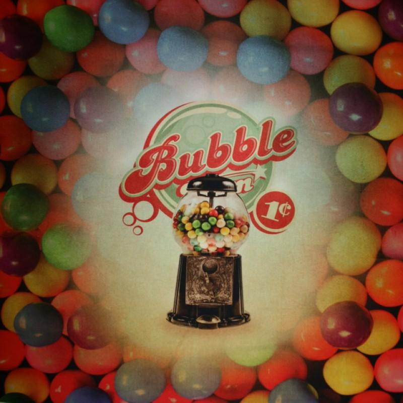 Rapport Bomuld/lycra økotex m/digitalt tryk, Bubble gum-35