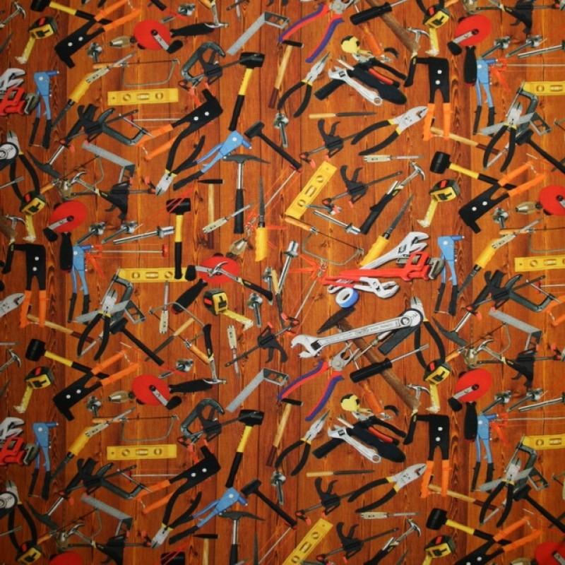 Afklip Bomuld/lycra økotex med digitalt tryk, værktøj 40x60 cm.