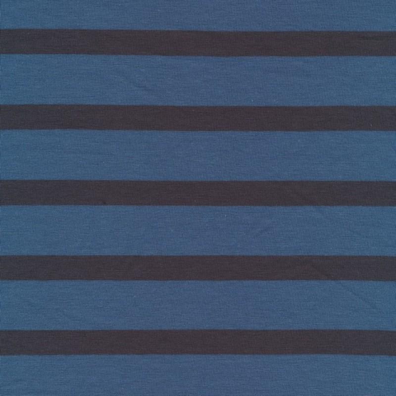 Rest Stribet bomulds-jersey, denim støvet mørkeblå, 40-50 cm.-32