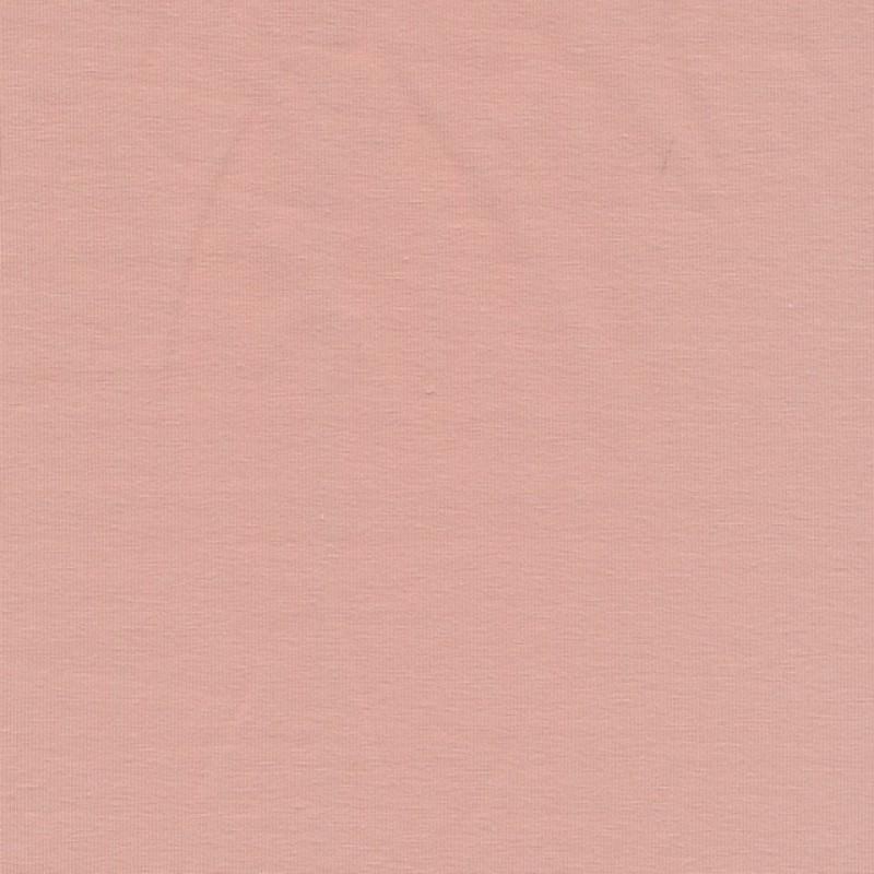 Jersey økotex bomuld/lycra, pudder-rosa
