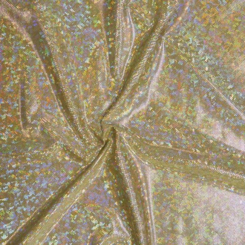 Jersey-Dansekjole-stof i paliet-look, guld