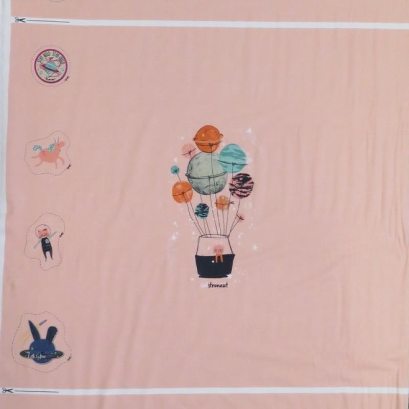 RapportBomuldsjerseykotexrosamedluftballon63x150cm-012