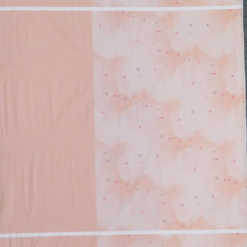 Rapport Bomuldsjersey økotex rosa med luftballon 63x150 cm.