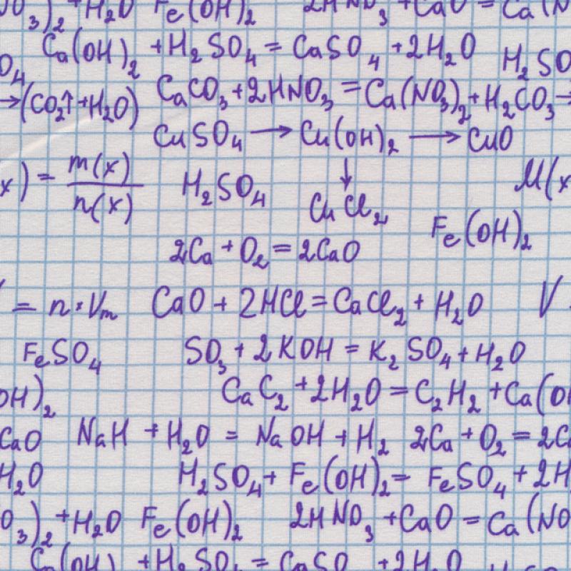 Bomuld/lycra økotex i hvid med matematik-315