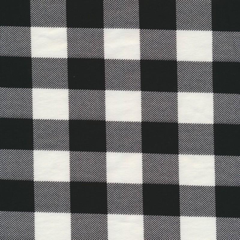 Jersey i Bomuld/lycra med tern i sort og hvid-313