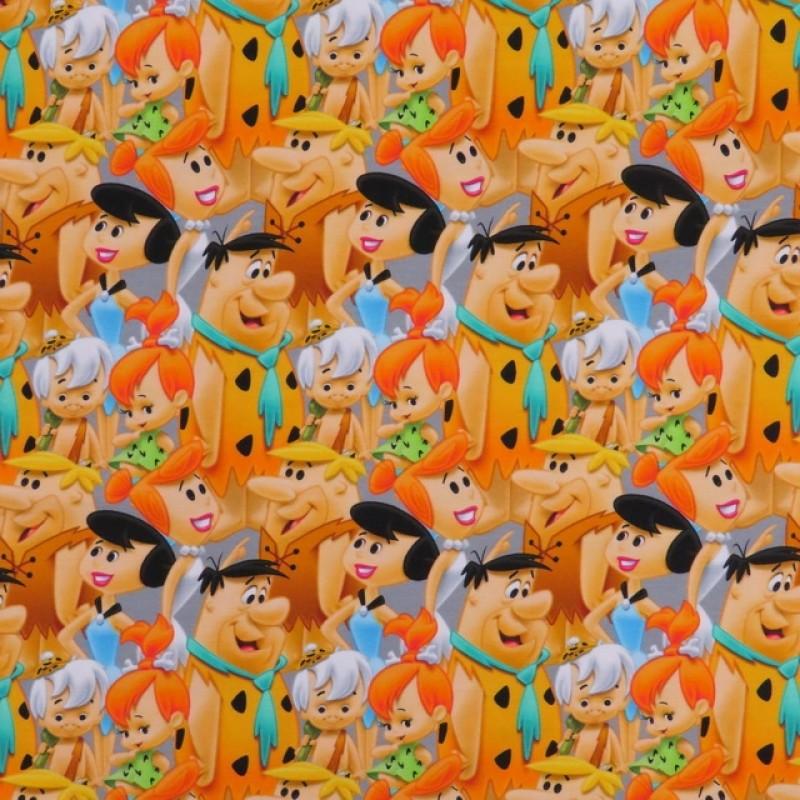 Bomulds jersey med digitalt tryk med Flintstones-313