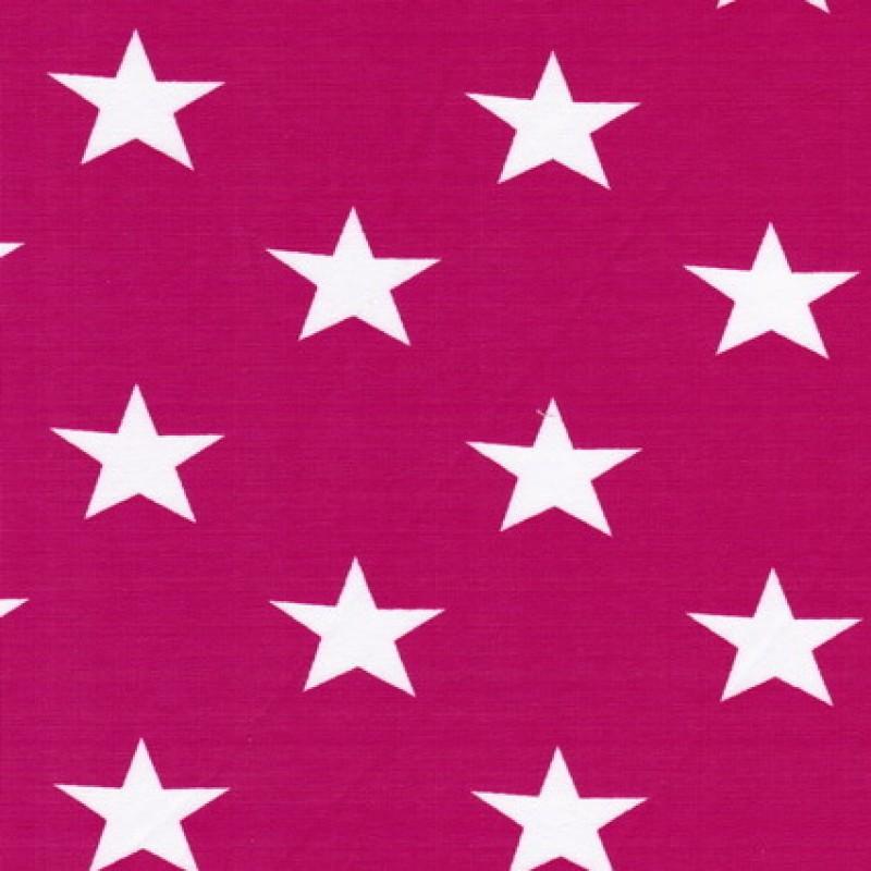 Bomuld/lycra økotex m/stjerner pink/hvid-33