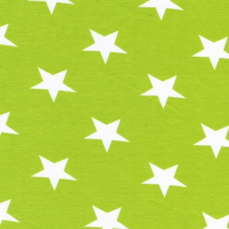 Bomuld/lycra økotex m/stjerner lime/hvid-31