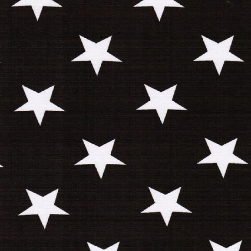 Bomuld/lycra økotex m/stjerner mørkebrun/hvid
