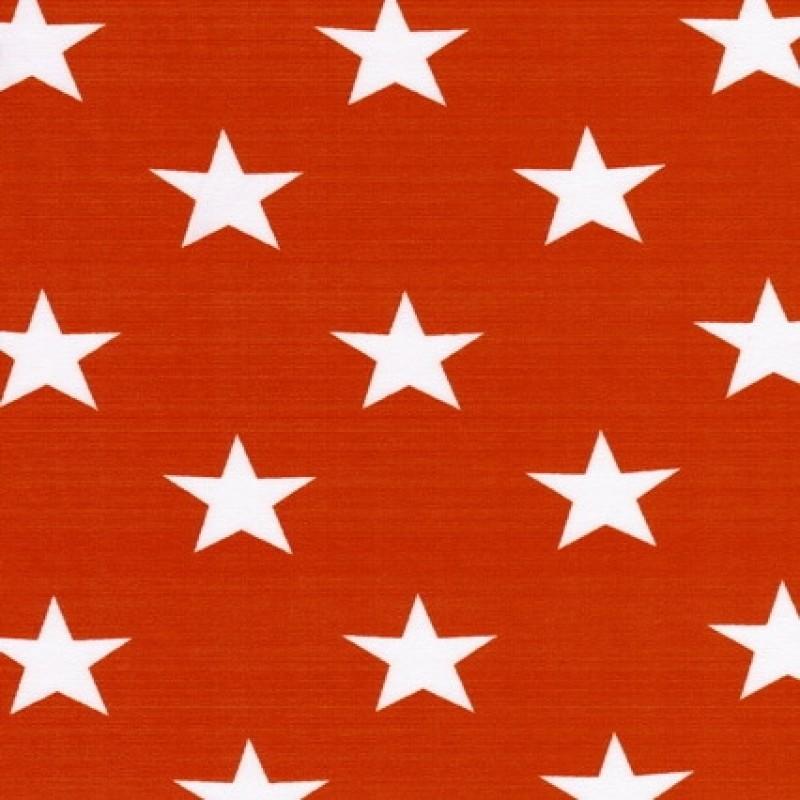 Bomuld/lycra økotex m/stjerner orange/hvid-31