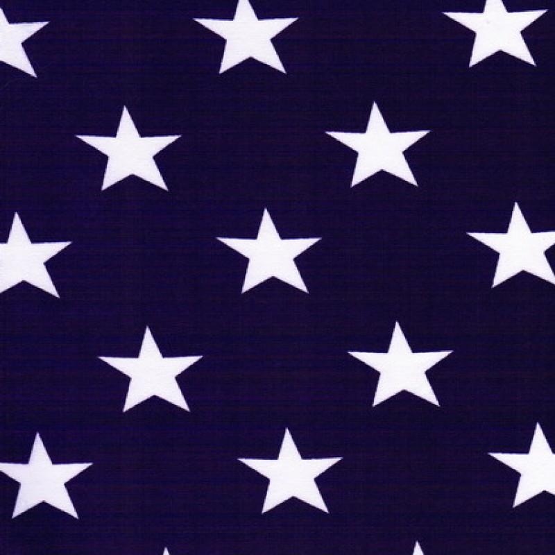 Bomuld-lycra økotex med stjerner mørkelilla og hvid-33
