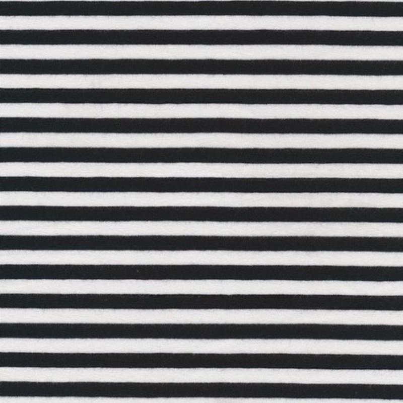 Bomuld/lycra økotex stribet sort/hvid 6 mm.-31