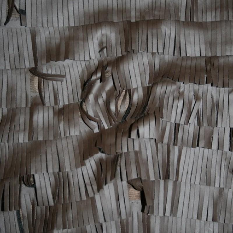 Rest Imiteret læder m/frynser, mørkebrun, 140 cm.-35