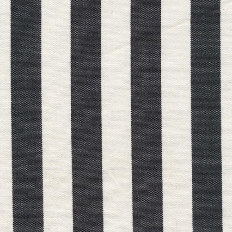 Liggestole stof stribet sort/off-white-31