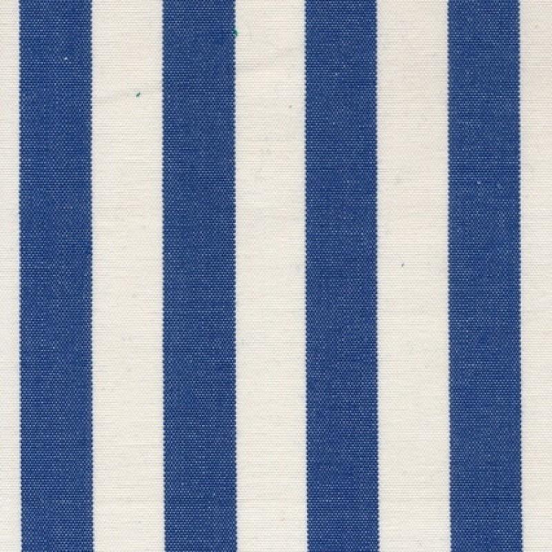 Liggestole stof stribet blå/off-white