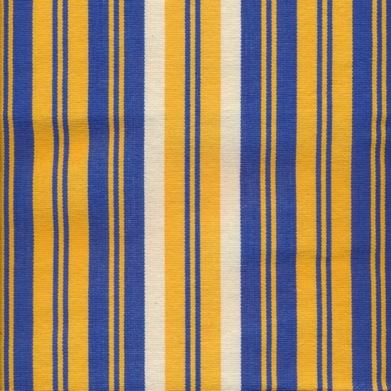 Liggestole stof stribet gul, blå og offwhite-33
