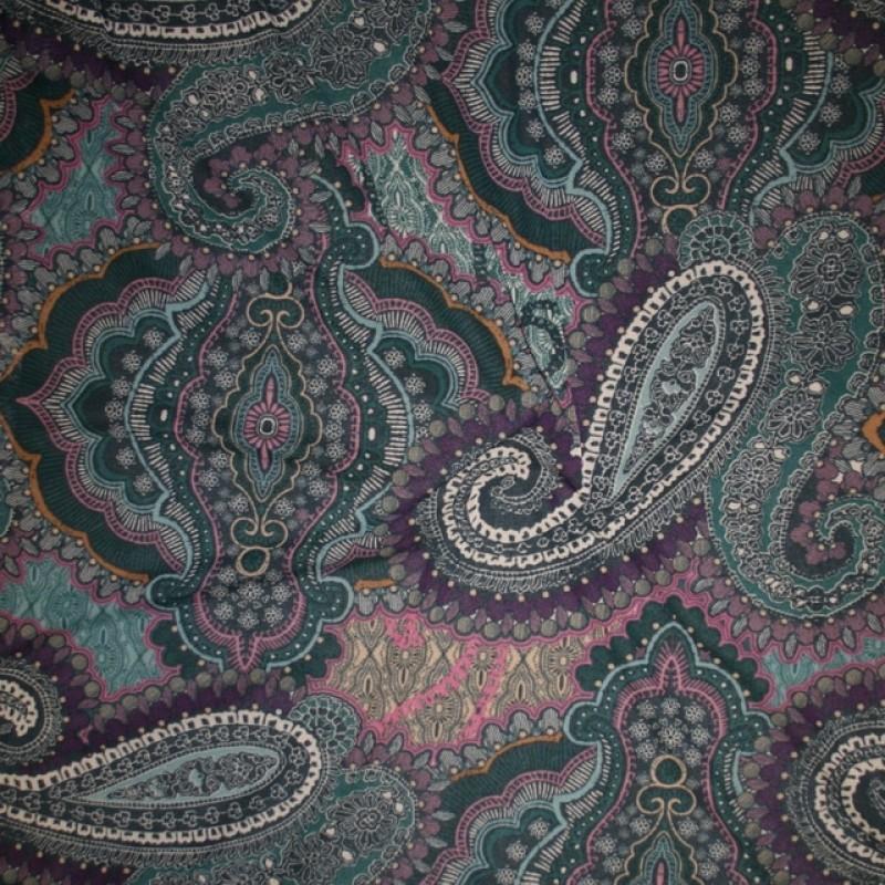 Rest Mesh med sjalsmønster og mønster flaskegrøn pink cerisse, 60 cm.-310