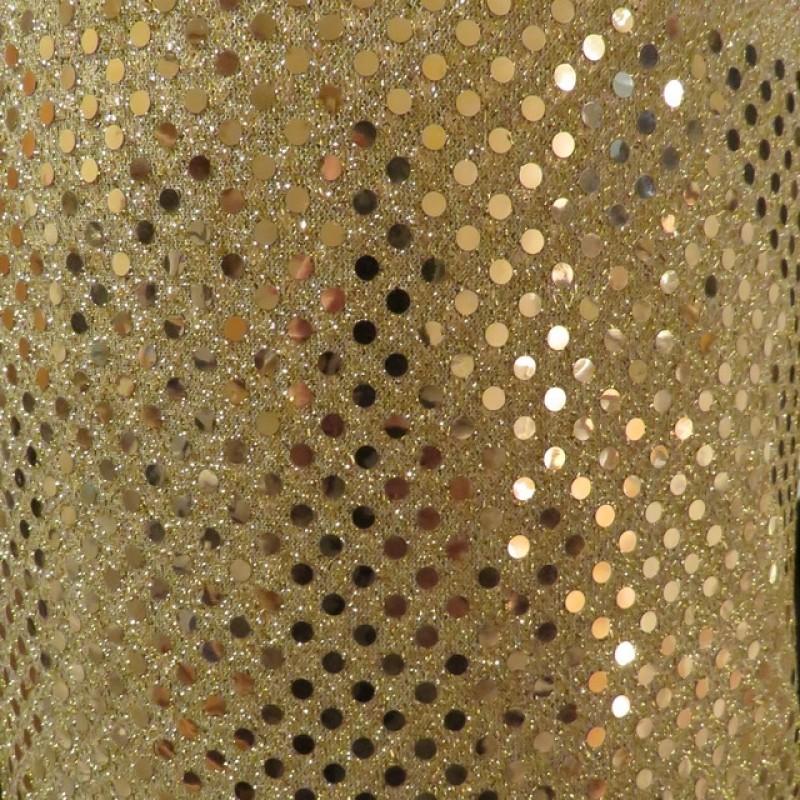 Paillet stof i guld