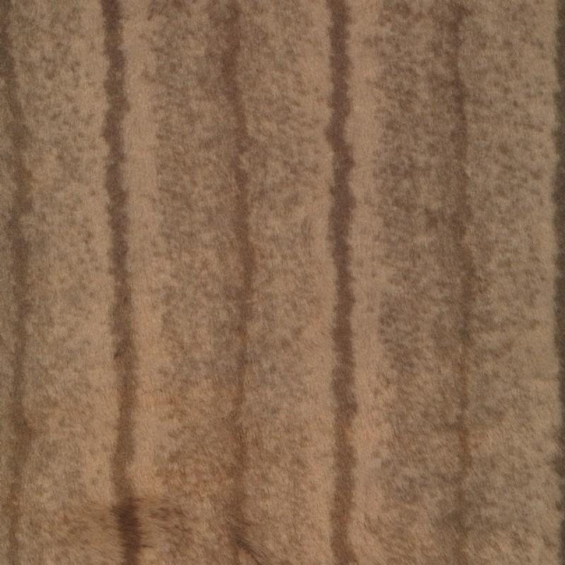Imiteret Pels i pudder-brun Mink-36