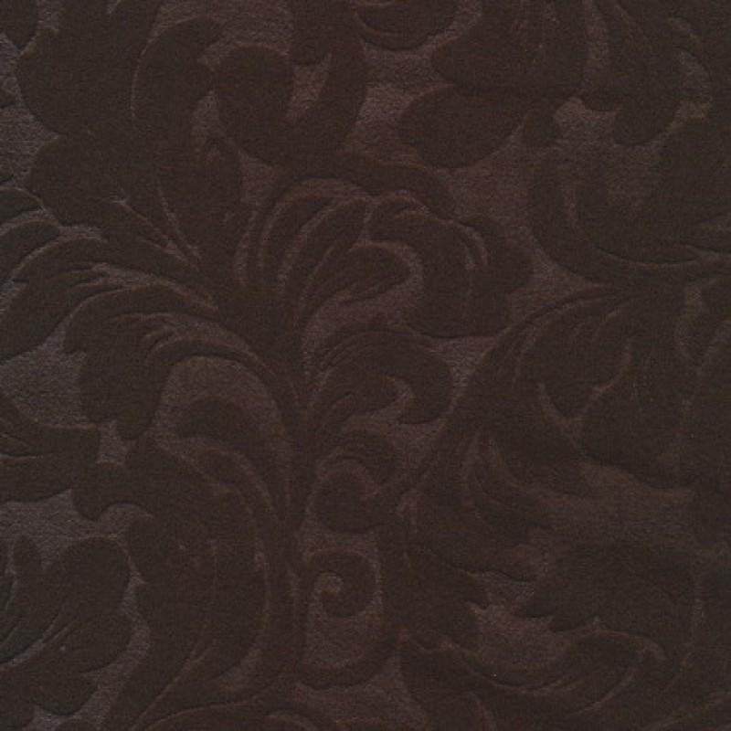 Rest Jacquard i uld-look, mørkebrun, 85 cm.