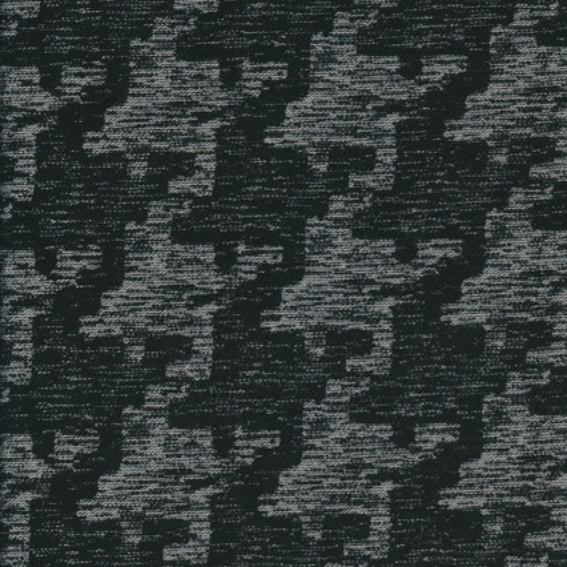 Bomuld/polyester i hanefjed sort/grå-33