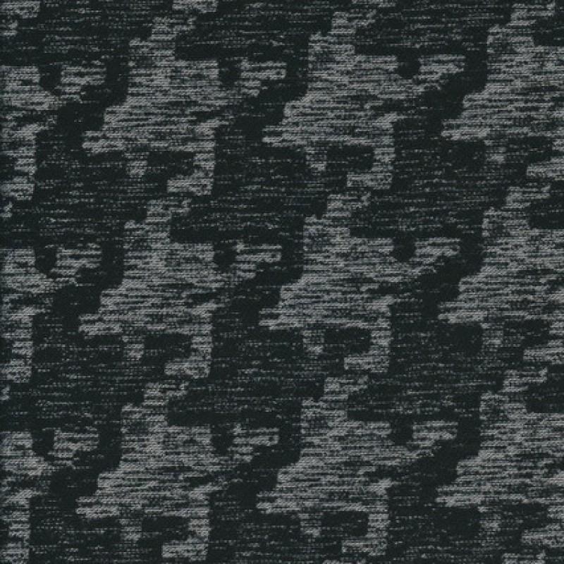Bomuld/polyester i hanefjed sort/grå