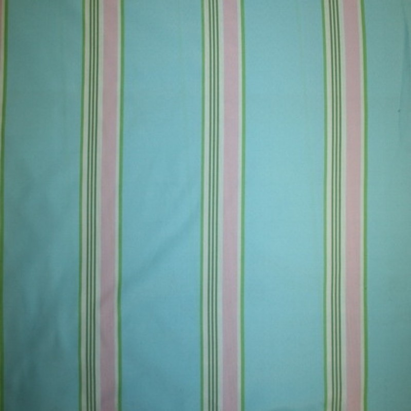 Rest Polyester m/striber turkis/lime/lyserød 60 cm.
