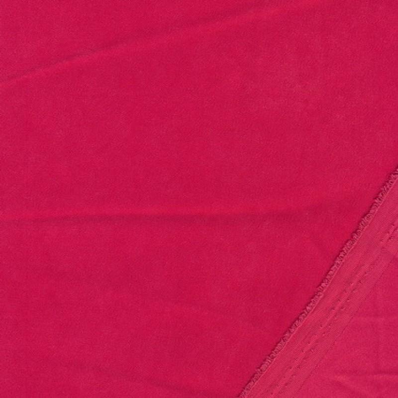 Twill-vævet i sandvasket look, koral-rød