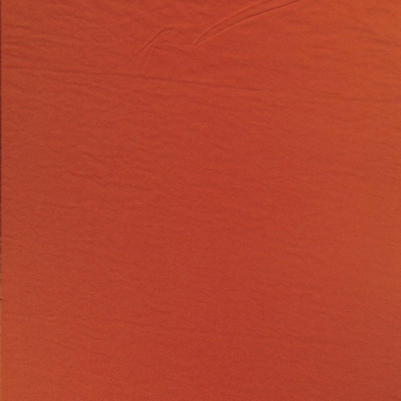 Brændt orange polyester i silk-look-35
