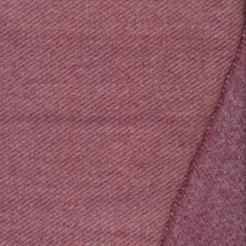Twill vævet i uld-look i rosa og mørk rosa-37