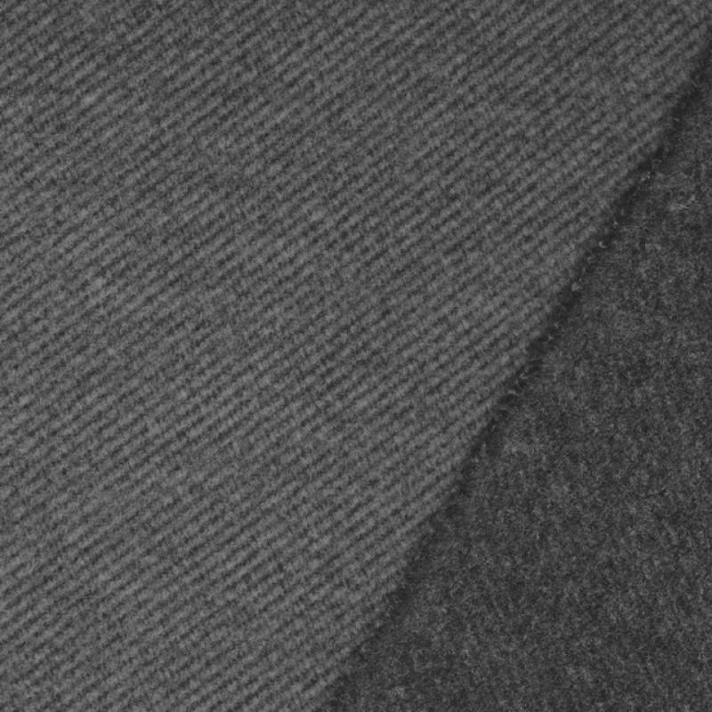Twill vævet i uld-look i grå og lys grå-38