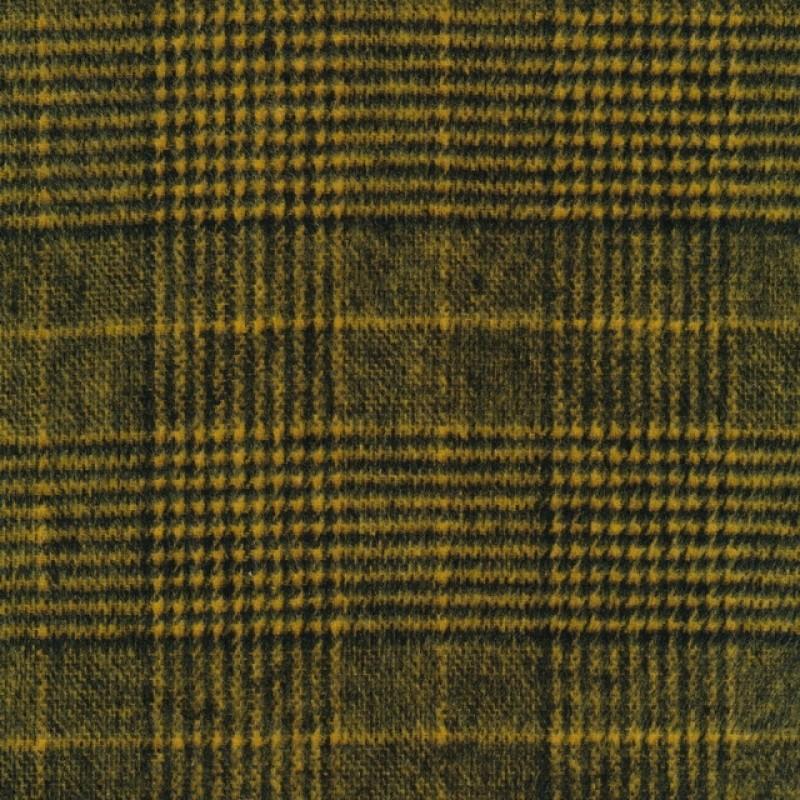 Ternet uld-look i sort og carry-gul-37